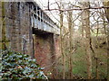 NS2272 : Railway viaduct in Dunrod Glen by Thomas Nugent