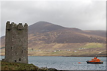 L7294 : Carrickkildavnet Castle, Achill Sound by Albert Bridge