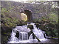 NS7881 : Bridge and Waterfall on Castlerankine Burn by Chris Upson