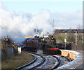 SD8610 : Steam Train arriving Heywood station by R lee