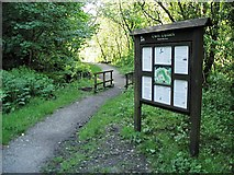 SN6802 : Information board in Cwm Clydach Nature Reserve by Nigel Davies