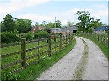SK2241 : Shirley Hall Farm by Mike Bardill