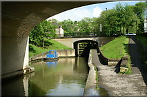ST7564 : Below Bath Deep Lock, Kennet and Avon Canal by Pierre Terre
