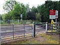 SJ5845 : Level crossing near to Marley Hall by Nigel Williams