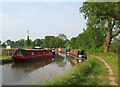 SJ5847 : Canal boats by Wrenbury by Espresso Addict