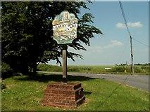 TL7640 : Tilbury-Juxta-Clare village sign, Essex by Robert Edwards