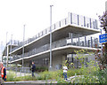TQ5282 : new footbridge, Rainham station by Stephen Craven