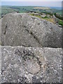 SX0661 : Sculpted rock at Helman Tor by Phil Williams
