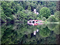 NN4901 : Boathouses at Loch Ard by Iain Thompson