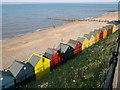 TG3136 : Beach Huts, Mundesley by Philip Halling
