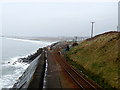 SH5917 : Cambrian Coast Railway at  Llanaber by John Lucas