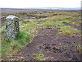 SK1797 : Moorland Boundary Stone by Stephen Horncastle