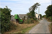 SW7854 : Roadside House and Farmyard by Tony Atkin