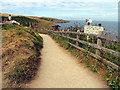 SW9981 : Coastal Path: Port Isaac by Pam Brophy