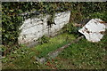 SO4115 : Horse trough by roadside at Tal-y-coed by Mike Hallett