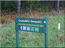SE8991 : Signpost in Dalby Forest Park at Crosscliffe by Bill Griffiths