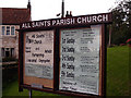 SE9131 : All Saints Church Noticeboard by David Wright