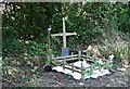 SW8452 : Roadside Shrine by the old A39 by Tony Atkin