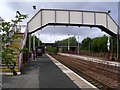 NS8058 : Cleland Railway Station by Chris Upson