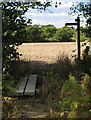 TQ1331 : Footbridge at bend in footpath 1450 by Andy Potter
