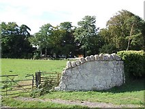 SP7811 : Old wall near Stone House by Rob Farrow