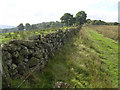 NS7379 : Dry-stone Wall at Baggage Knowe by Chris Upson