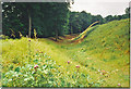 SU3237 : Ditch and Ramparts, Danebury Hillfort by Colin Smith