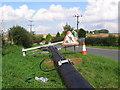 SE8553 : New Telegraph Poles by Stephen Horncastle