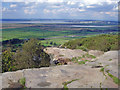 SJ4975 : Helsby: view north from the trig. point on Helsby Hill by Mike Harris