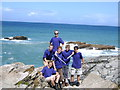SX0382 : Explorer Scouts enjoying the coast by Edward Morgan