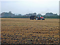 SJ5860 : Alpraham: muck-spreading by Mike Harris