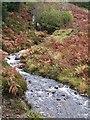 NM4850 : Waterfall and stream near Loch Frisa by Rob Farrow