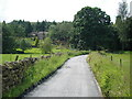 SD9528 : School Land Lane (bridleway) looking towards Land Farm Garden by Phil Champion