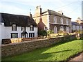 NY6624 : Thatched Cottage and 'Saunders' , Long Marton by Humphrey Bolton