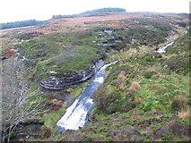 NS4579 : Knockupple Burn waterfall by Chris Wimbush