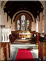 View of interior of the 11th Century Anglican Church of St Anne. Situated in Ancroft Village.