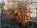SJ1866 : Agricultural contraption at derelict farm by Peter Craine