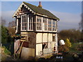 TF9629 : Derelict signal box by David Williams