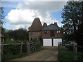 TQ6444 : Brook Farm Oast & East Oast, Sychem Lane, Five Oak Green, Kent by Oast House Archive
