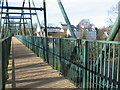 NS6958 : The Clyde Walkway crosses the David Livingstone Memorial Bridge by Chris Wimbush