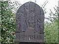 TL2256 : Carved wooden Village Sign by Steve Jaikens