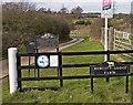 SP8724 : Burcott Lodge Farm Entrance by Richard Thomas
