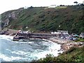 SW4524 : The little harbour at Lamorna by Barrie Jenkins