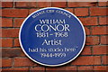 Photo of William Conor blue plaque