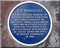 Photo of The Bridgegate blue plaque