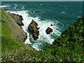 SX0242 : Rocky Cove between Turbot and Pabyer Points by John Garfoot