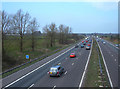 SJ7564 : M6 Motorway north of Junction 17 by michael ely