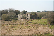 SX0358 : Luxulyan: ruin on Lestoon Moor by Martin Bodman