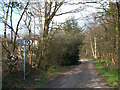 SJ7470 : Byway across Warrington Common by michael ely