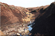SK1994 : Peat grough, Middle Moor by Dave Dunford